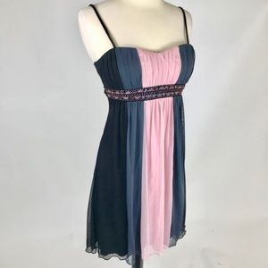 City Triangles Dresses - Short Empire Cocktail Dress Black Pink Grey NWOT